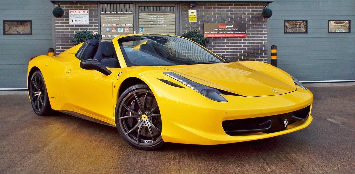 2012 Ferrari 458 4.5 V8 Spider - Giallo Triplo Strato For Sale (picture 1 of 6)