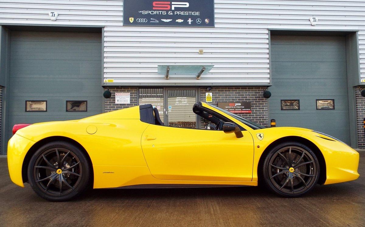 2012 Ferrari 458 4.5 V8 Spider - Giallo Triplo Strato For Sale (picture 3 of 6)
