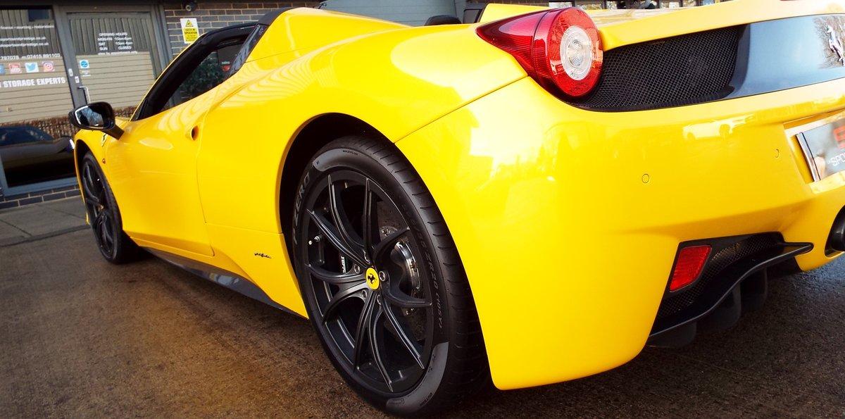 2012 Ferrari 458 4.5 V8 Spider - Giallo Triplo Strato For Sale (picture 5 of 6)