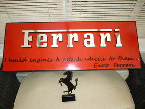 Ferrari 3D Sign