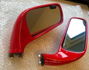 1987 Ferrari F40 Side Mirrors with Glass - 62821100 and 62821200
