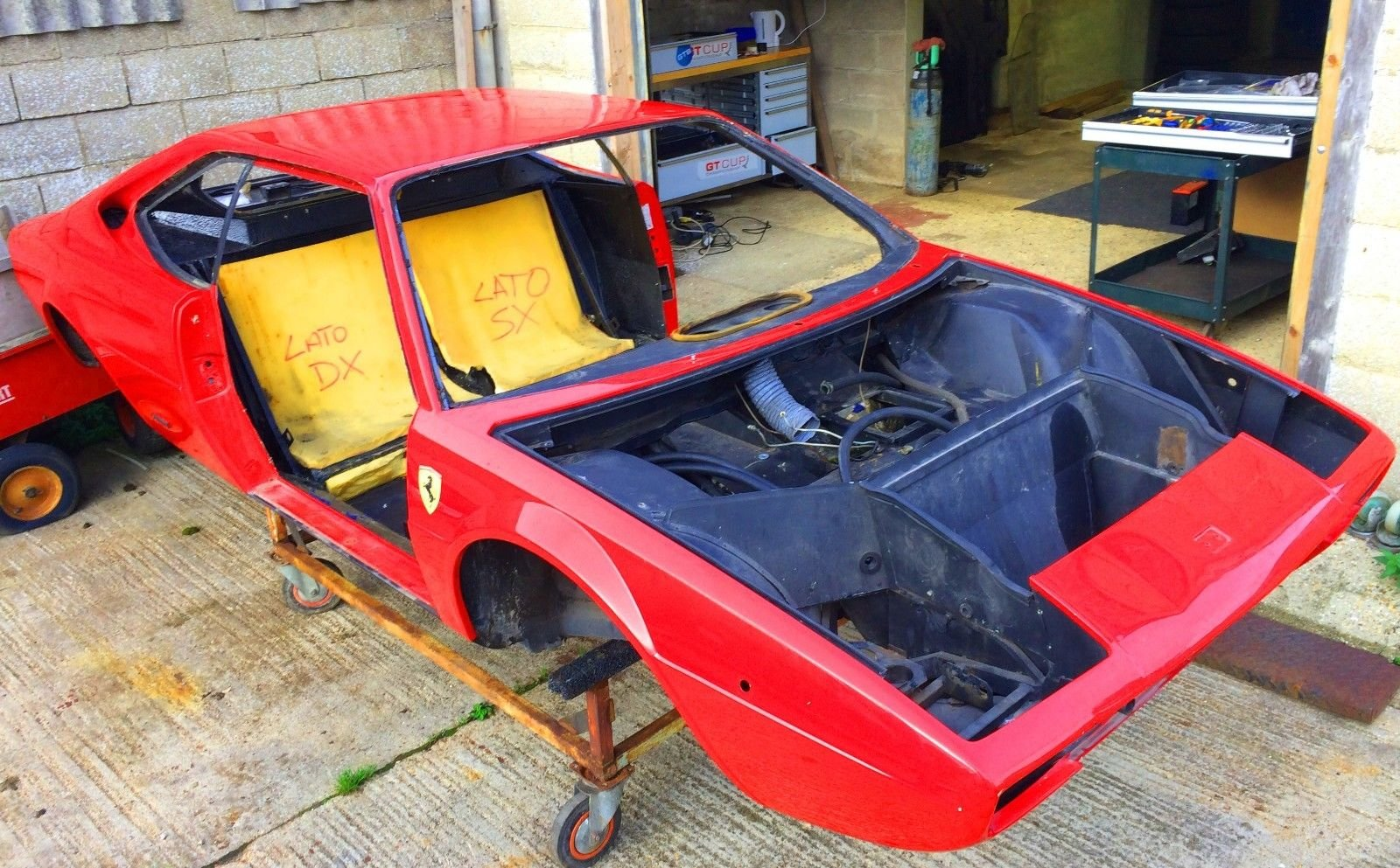 1975 Ferrari Dino 208 GT4 Body and Chassis LHD For Sale (picture 1 of 6)