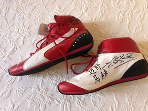 Michael Schumacher Puma shoes Signed
