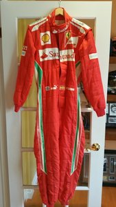Fernando Alonso race used suit