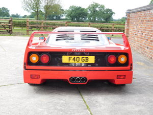 Ferrari F40 1987-1992 F40 Registration