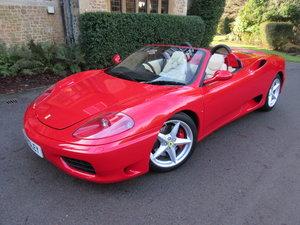 2004 Ferrari 360 manual spider For Sale