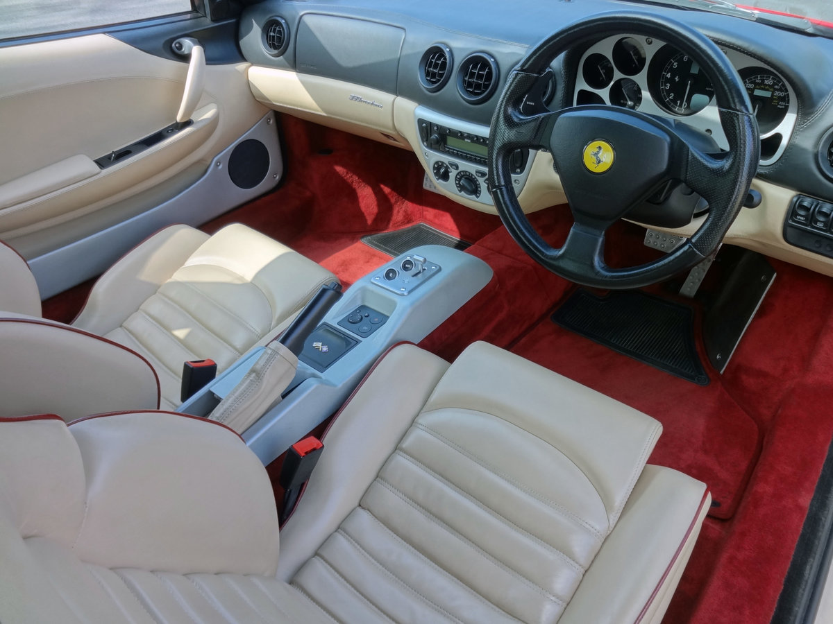 2000 FERRARI 360 MODENA F1 Rosso/Crema FSH For Sale (picture 4 of 6)