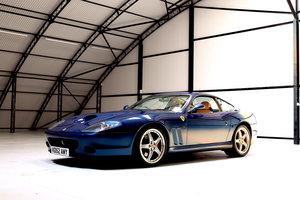 2002 Ferrari 575 Maranello TDF Blue with Crema