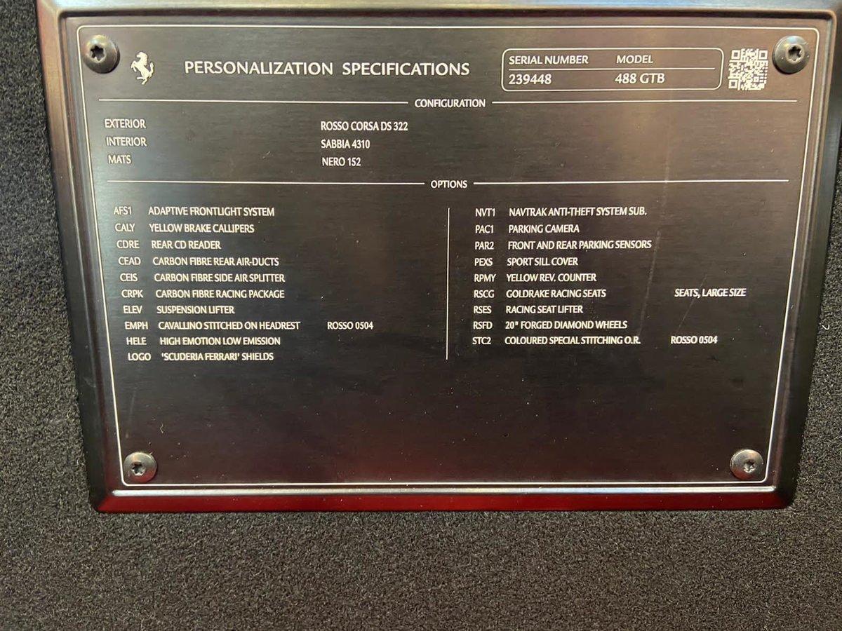 2018 FERRARI 488 GTB For Sale (picture 12 of 12)