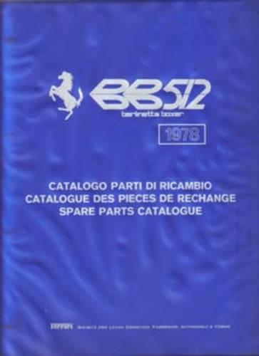 1978 Ferrari BB512 Spare Parts Catalogue For Sale (picture 1 of 3)