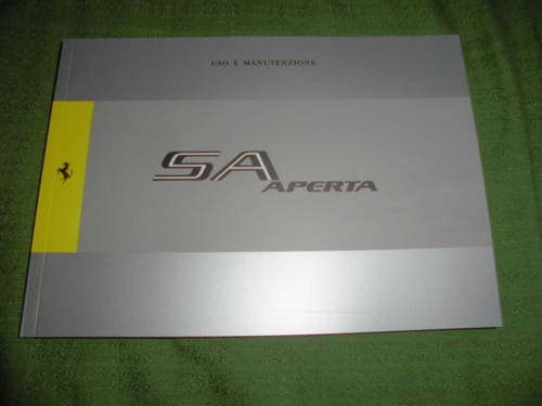 2011 per ferrari sa aperta libretto uso e manutenzione For Sale (picture 1 of 1)