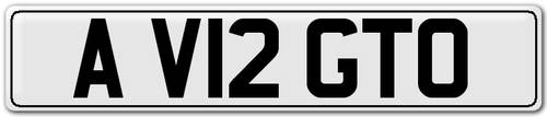 2012 A V12 GTO - Number Plate For Sale (picture 1 of 3)