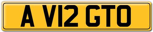 2012 A V12 GTO - Number Plate For Sale (picture 2 of 3)