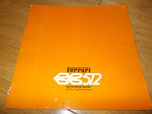 ferrari bb512 sales brochure For Sale (picture 1 of 2)