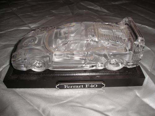 0000 ferrari f40 crystal display/paperweight For Sale (picture 1 of 2)