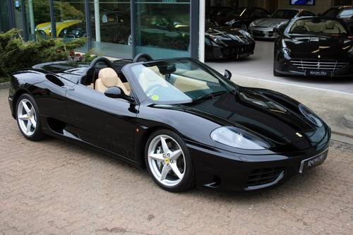 2003 Ferrari 360 3.6 Spider F1, 1 owner from new, 7,981 miles!!! For Sale (picture 1 of 6)