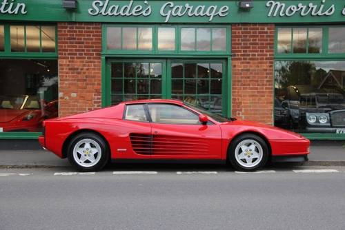 1990 Ferrari Testarossa Coupe Manual  SOLD (picture 1 of 5)