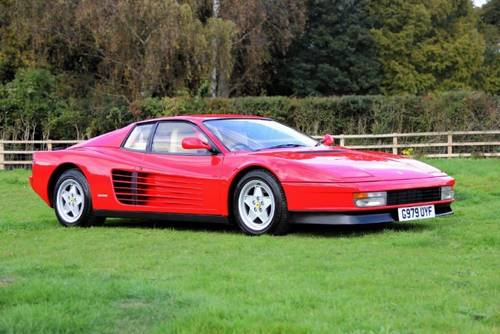 1990 Ferrari Testarossa Coupe Manual  SOLD (picture 2 of 5)