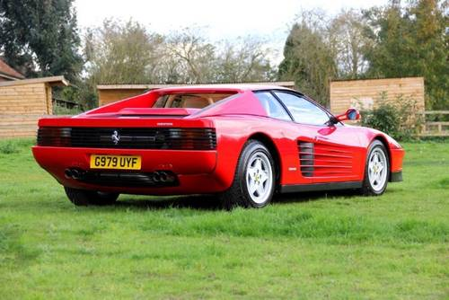 1990 Ferrari Testarossa Coupe Manual  SOLD (picture 3 of 5)