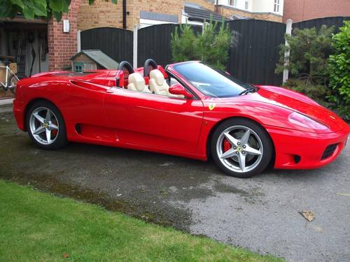 6106 FERRARI 360 SPIDER MANUAL 18K MILES STUNNING For Sale (picture 1 of 6)
