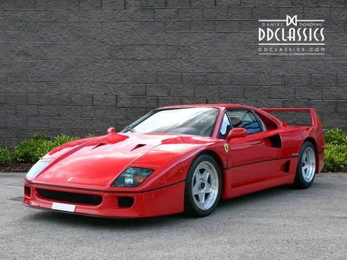 1991 Ferrari F40 (LHD) SOLD (picture 1 of 6)