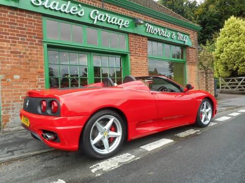 2001 Ferrari 360 Spider Manual  For Sale (picture 3 of 4)