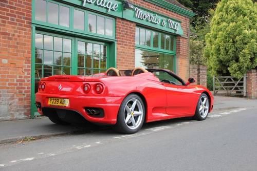 2001 Ferrari 360 Spider Manual  SOLD (picture 3 of 4)