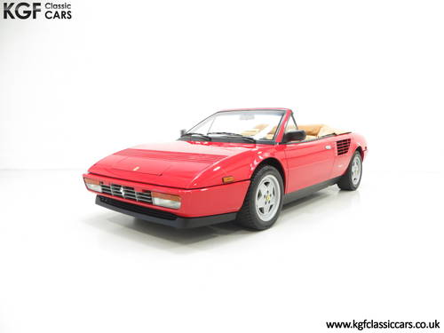 1987 Ferrari Mondial 3.2 Cabriolet with an Incredible 2,868 Miles SOLD (picture 2 of 6)