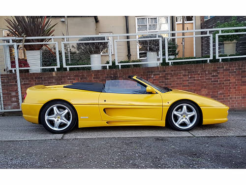 1996 FERRARI F355 SPIDER MANUAL GIALLO FLY  For Sale (picture 2 of 6)