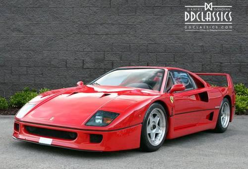 1989 Ferrari F40 Plexiglas, Non-Cat (LHD) for sale in London SOLD (picture 1 of 6)