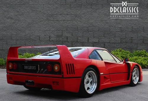 1989 Ferrari F40 Plexiglas, Non-Cat (LHD) for sale in London SOLD (picture 2 of 6)