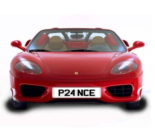 Perfect FERRARI registration for a PRANCING HORSE For Sale (picture 1 of 1)