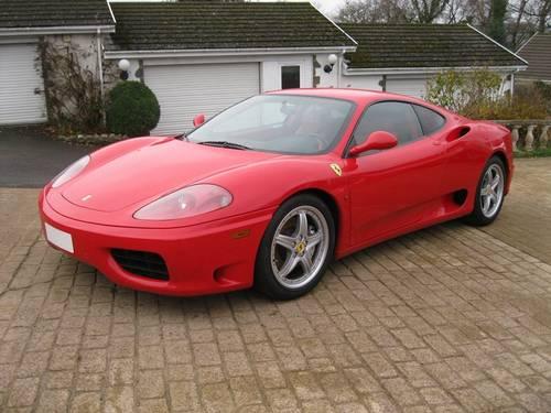 2004 Ferrari 360 3.6 Coupe Modena F1 LHD  For Sale (picture 1 of 6)