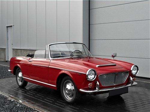 1962 Fiat 1200 Cabriolet Pininfarina Red Completely Restored SOLD (picture 1 of 6)