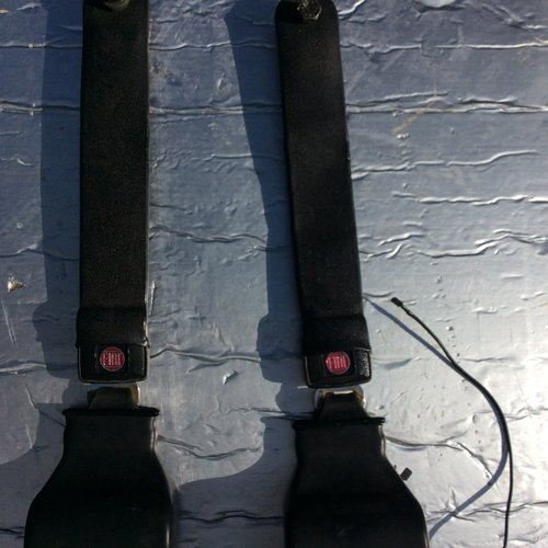 1974 Fiat 850 Spider seatbelts, original equipment For Sale (picture 4 of 4)