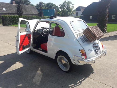 FIAT 500 L 1970 WHITE PERFECT CONDITION RESTORED SOLD (picture 5 of 6)