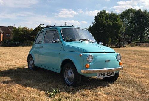 1975 Fiat 500R round speedo in baby blue SOLD (picture 1 of 6)