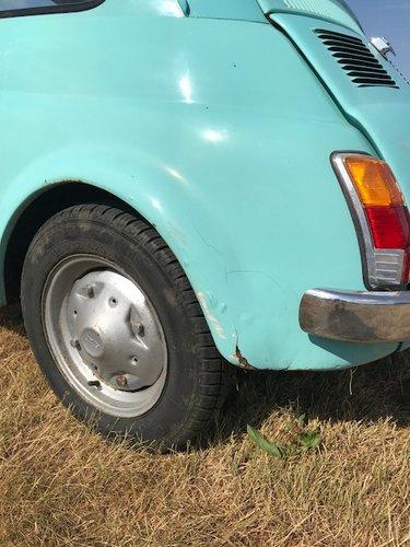 1975 Fiat 500R round speedo in baby blue SOLD (picture 6 of 6)