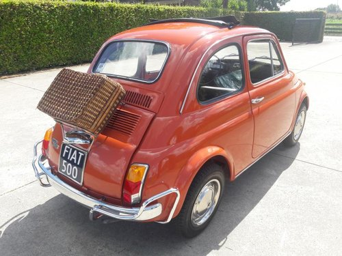 FIAT 500 L 1970 red PERFECT CONDITION RESTORED For Sale (picture 2 of 6)
