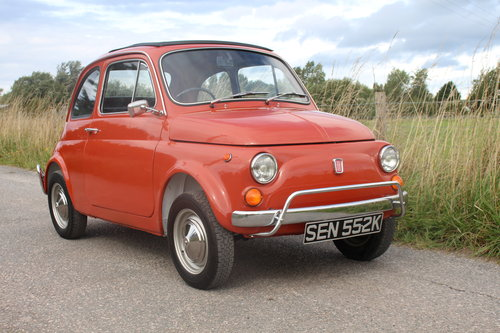 Fiat 500L Classic 1971 RHD Great Condition Only 55,000 Miles SOLD (picture 1 of 6)