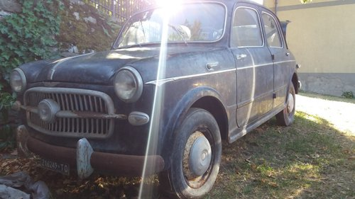 1957 Fiat 1100 - 1 owner - Parked in an Italian barn since 1965! For Sale (picture 1 of 5)
