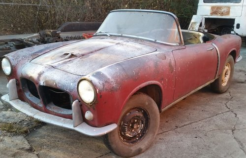 1958 Fiat 1200 TV to restore for sale For Sale (picture 1 of 6)
