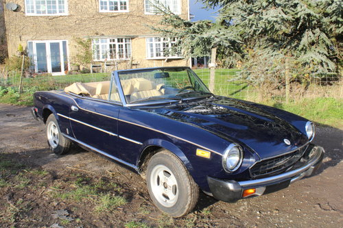 1981 FIAT 124 Spider Twin Cam SOLD (picture 1 of 6)