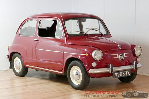 1972 Fiat 600 Unique and original Dutch car For Sale (picture 1 of 6)