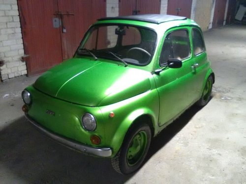 Fiat 500, 1971. Green metalic, runs , new parts For Sale (picture 1 of 6)