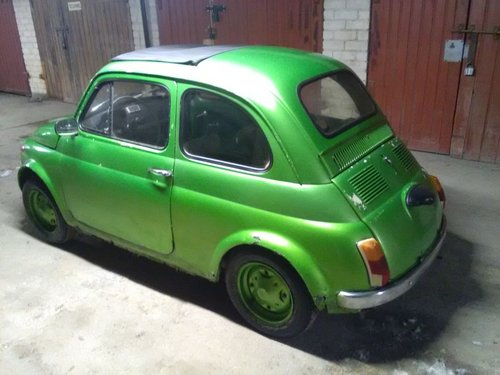 Fiat 500, 1971. Green metalic, runs , new parts For Sale (picture 2 of 6)