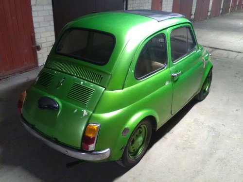 Fiat 500, 1971. Green metalic, runs , new parts For Sale (picture 3 of 6)