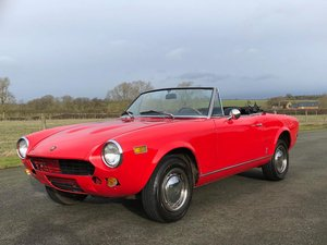 1978 Fiat 124 Sport Spider CS1 SOLD