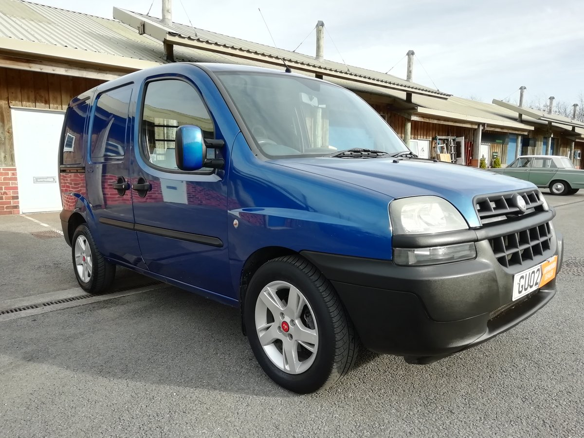 2002 Fiat Doblo Cargo 19 Jtd Turbo Diesel Twin Side Doors For