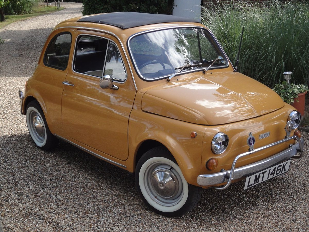 1972 Very Original Right hand drive Fiat 500 in Mustard Yellow For Sale (picture 1 of 5)